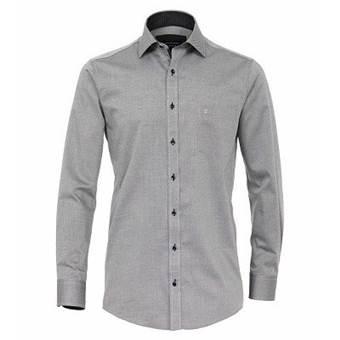 Pánská košile Casa Moda Comfort Fit dlouhý rukáv černá se strukturou vel. 50 - 56 (4LX - 7XL)