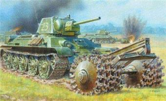 T-34/76 RANK WITH MINE ROLLER
