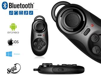 Bezdrátový bluetooth ovladač - gamepad - mouse - selfie shutter (Android, iOS, PC, VR)