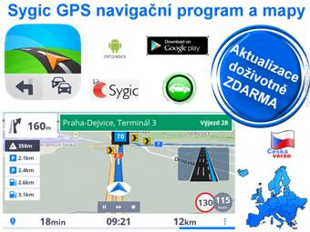 Sygic GPS Android mapy Evropa Lifetime licence