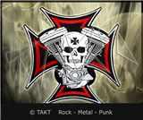 Nášivka Motorkářská V - Twin Skull