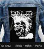 Nášivka na bundu The Exploited - Skull