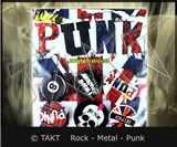 Placka Punk - union Jack Kpl.  6ks