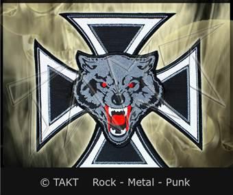 Nášivka motorkářská kříž 6 vlk