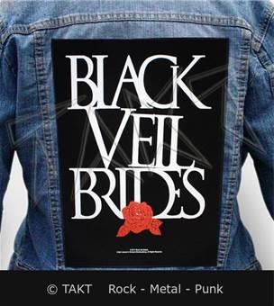 Nášivka na bundu Black Veil Brides - rose
