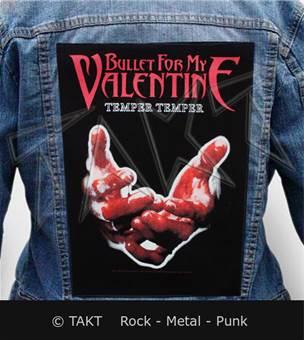 Nášivka na bundu Bullet For My Valentine - temper Temper