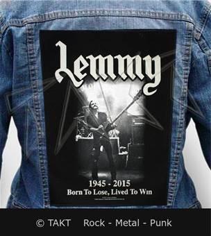 Nášivka na bundu Lemmy - lived To Win