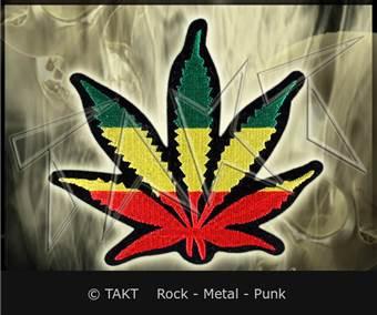 Nášivka nažehlovací Marihuana 3 Rasta
