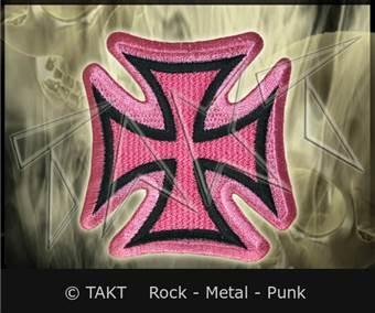 Nášivka - Nažehlovačka Kříž Rytířský 8 Pink