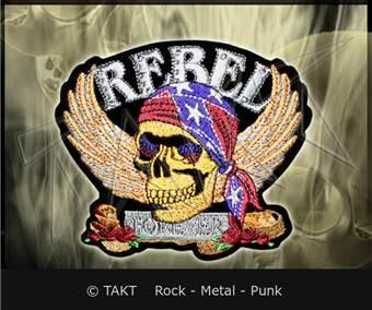 Nášivka - Nažehlovačka Lebka 20 Rebel Forever