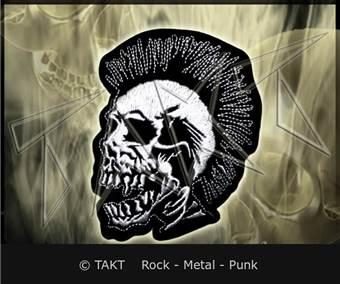 Nášivka - Nažehlovačka The Exploited - punk Skull 2 White