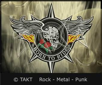 Nášivka velká Motorkářská Born To Ride Skull Wings