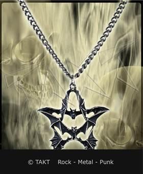 Přívěšek Pentagram 22 netopýři