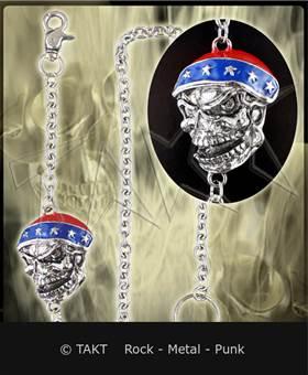 Řetěz na kalhoty lebka 09 konfederace