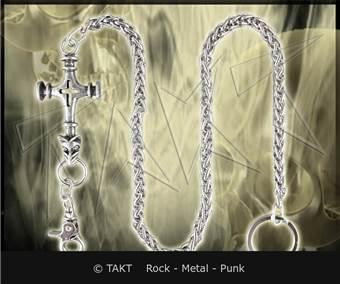 Řetěz na kalhoty Splétaný kříž
