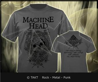 Tričko Machine Head - clock Grey Imp.