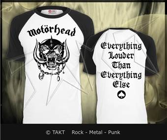 Tričko Motorhead - everything Louder Than Everything Else White Imp.
