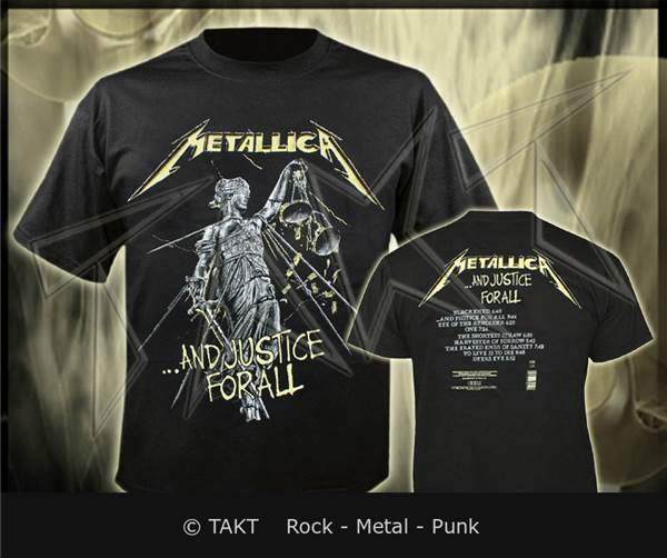 354ad86de955 Tričko Metallica - and Justice For All 4 Tracks Imp. - Metallica ...